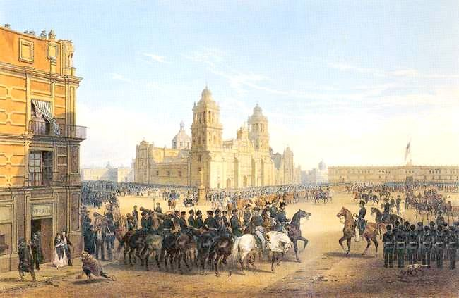Scott Entering Mexico City