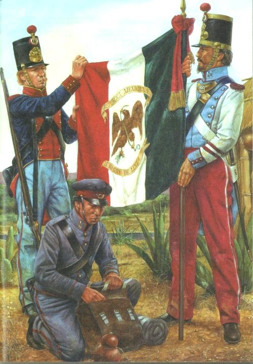 Red Line American Flag >> MEXICAN WAR UNIFORMS - Mexican 11th Infantry